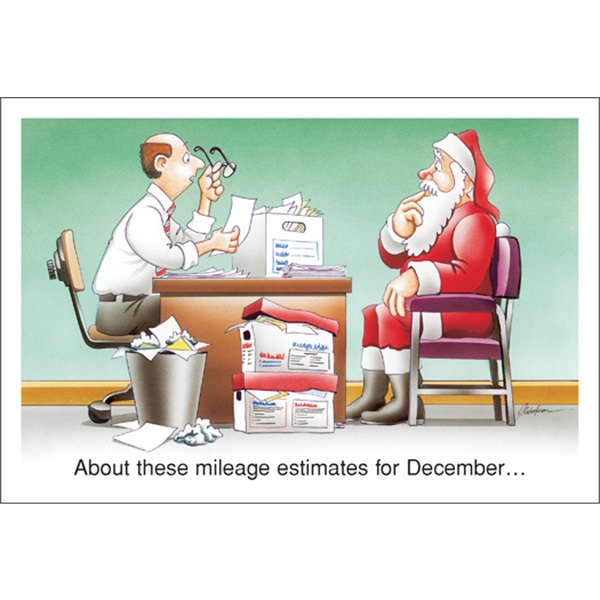 About These Mileage Estimates For December…