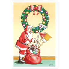 Santa's Bag Full Of Cleaning Supplies