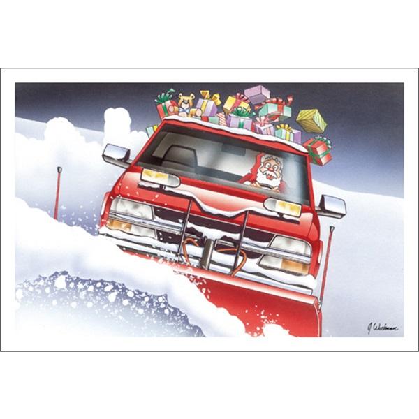 Santa Plows The Roads