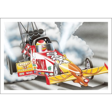 Santa's Top Fuel Dragster