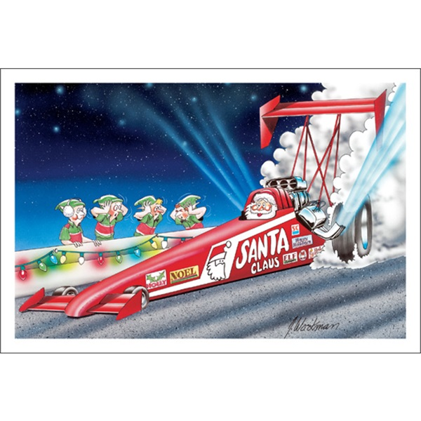 Santa Racing Top Fuel Dragster