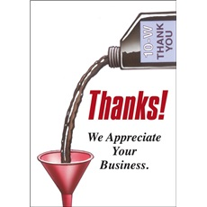 Thanks! We Appreciate Your Business