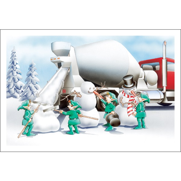 Cement Snowmen