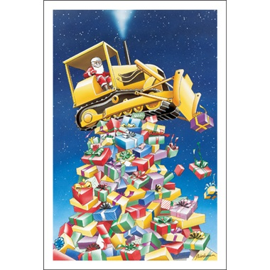 Bulldozer On Top Of Presents