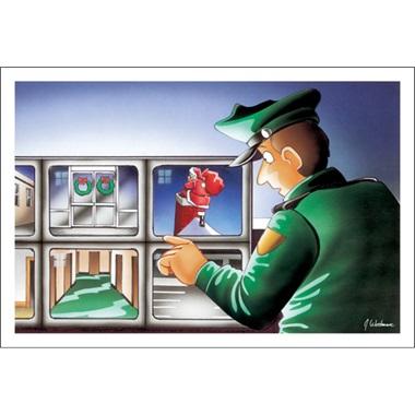 Security Guard Moniters Monitors