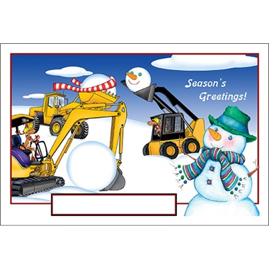 Construction Sight Snowman