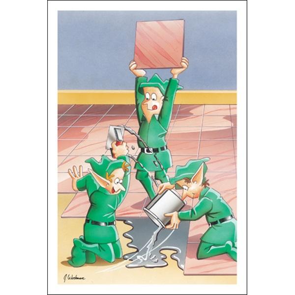 Elves Doing A Good Job Installing Tile