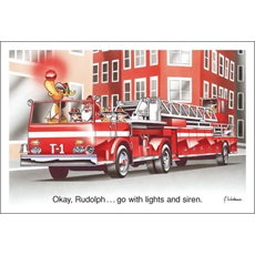 Okay Rudolph Go With Lights And Siren