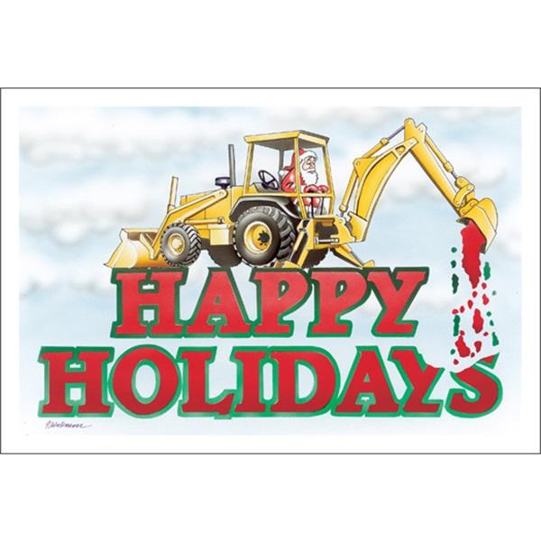 Happy Holidays Backhoe