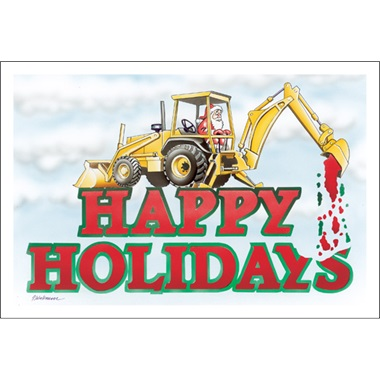Happy Holidays Backhoe