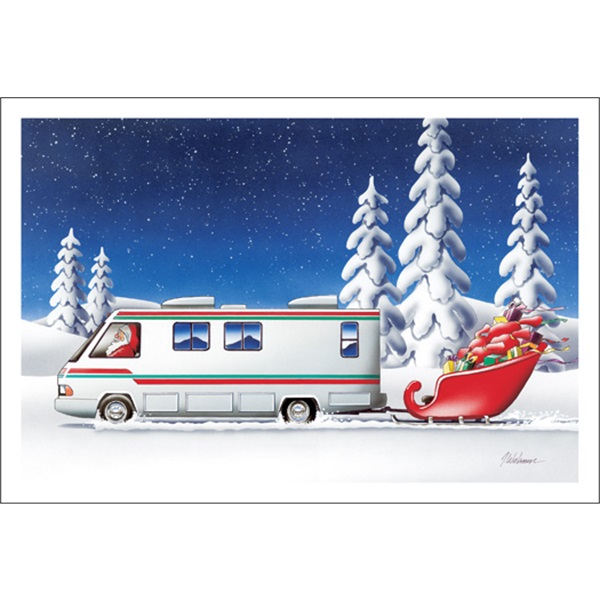 Motor Home Towing Sleigh