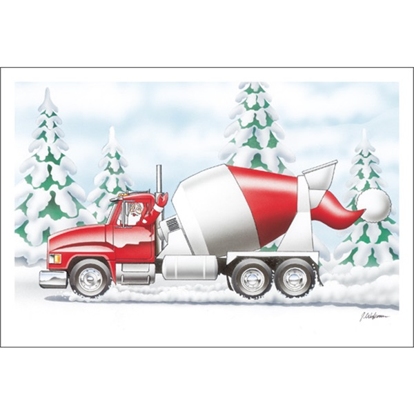 Santa Hat Cement Truck
