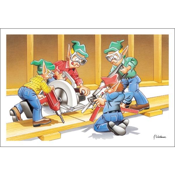 Building Contractors Hard At Work