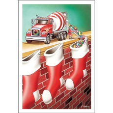 Concrete Truck Filling Stockings