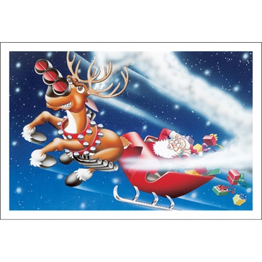 Drag Racing Reindeer