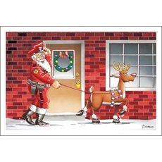 Santa And Guard Reindeer
