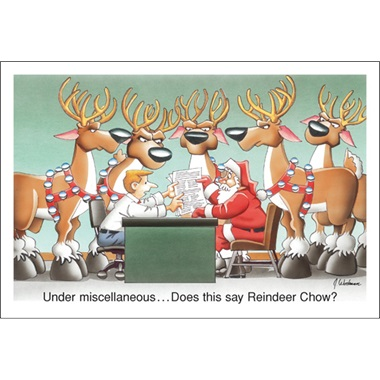 Under Miscellaneous... Does It Say Reindeer Chow?