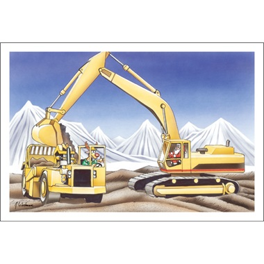 Excavator And Roller
