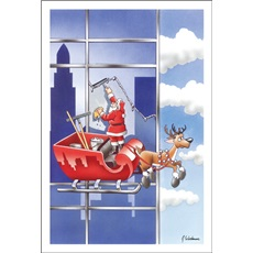 Santa Is An Excellent Window Washer