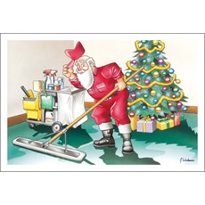 After The Holidays Santa Likes To Clean Up