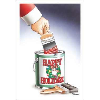 Happy Holidays Paint Can