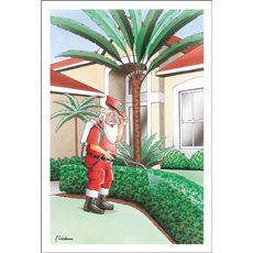 Santa Spraying The House For Bugs