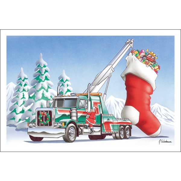 Semi Tow Truck With Stocking
