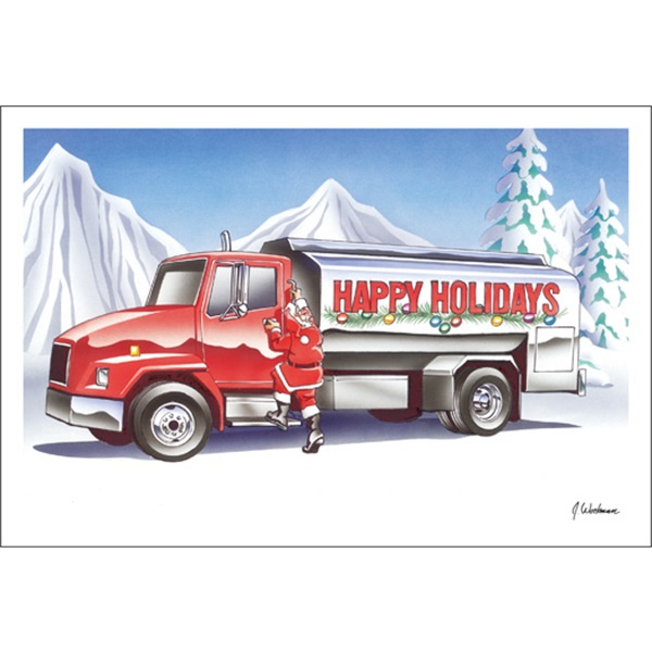 Happy Holidays Fuel Truck