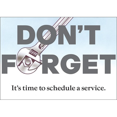 It's Time To Schedule A Service