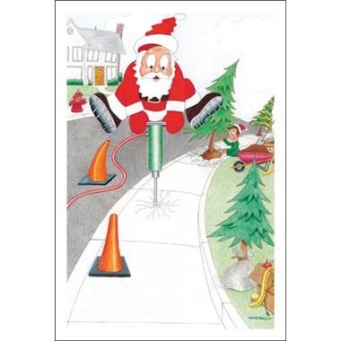 Jack Hammering Santa