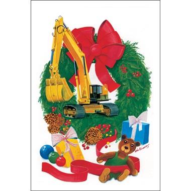 Excavator In The Wreath