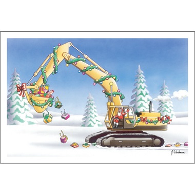 Santa The Excavator Driver