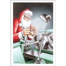 Santa Holds Micrometer