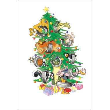 Animals And Tires In Tree