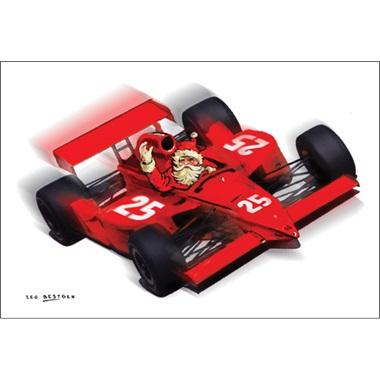 Santa's F1 Car