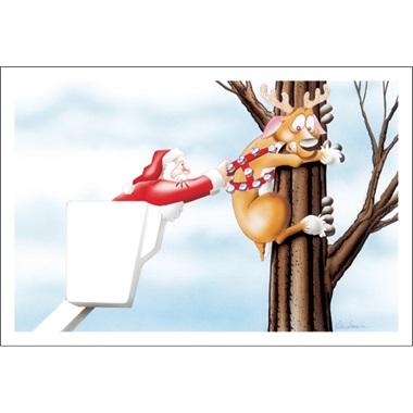 Reindeer Stuck In Tree