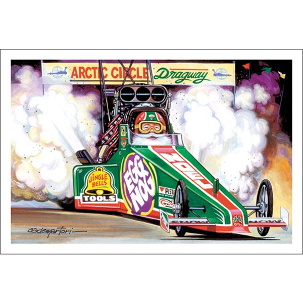 Egg Nog Top Fuel Dragster Smoking The Tires