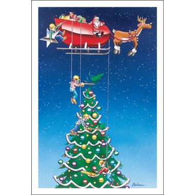 Santa's Way Of Trimming Trees