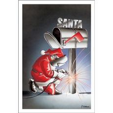 Santa Welding The Mailbox