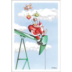 Santa Rides The Oil Pump
