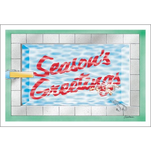 Season's Greetings In The Pool