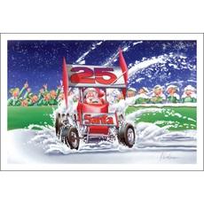 Santa Slides In Snow