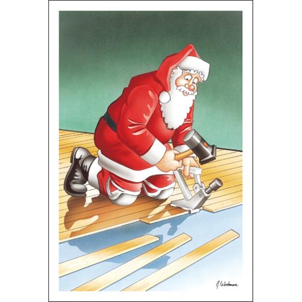 Santa Installs Laminate Flooring
