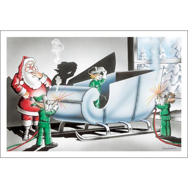 Welding Santa A New Sleigh