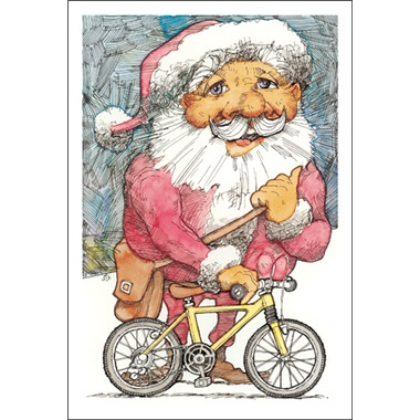 Santa Delivering A Bike