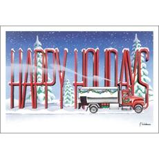 Happy Holidays Fuel Truck