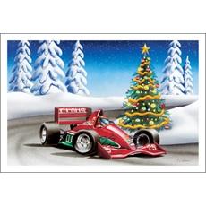 F1 Racer Hangin Corner Around Christmas Tree