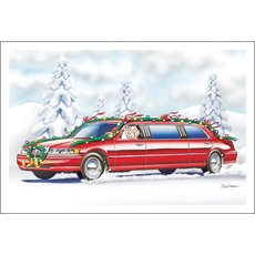 Red Decorated Limousine
