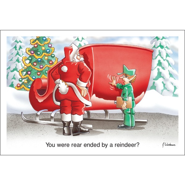 You Were Rear Ended By A Reindeer?