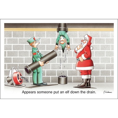 Appears Someone Put An Elf Down The Drain